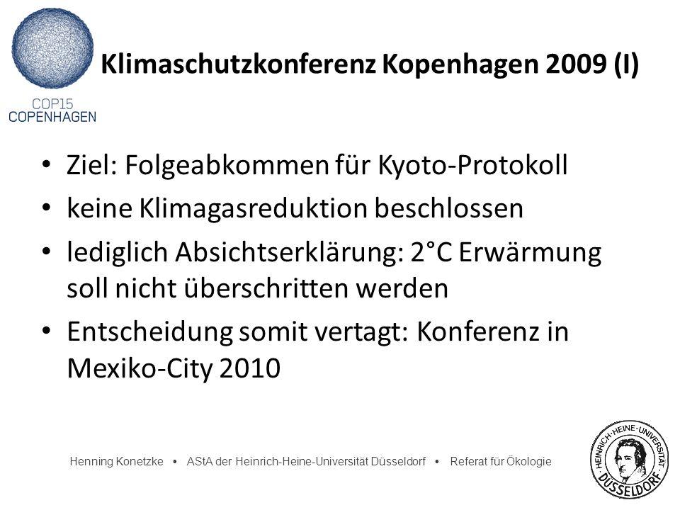 Klimaschutzkonferenz Kopenhagen 2009 (I)