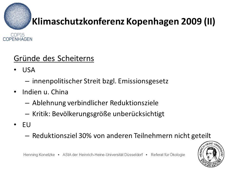 Klimaschutzkonferenz Kopenhagen 2009 (II)