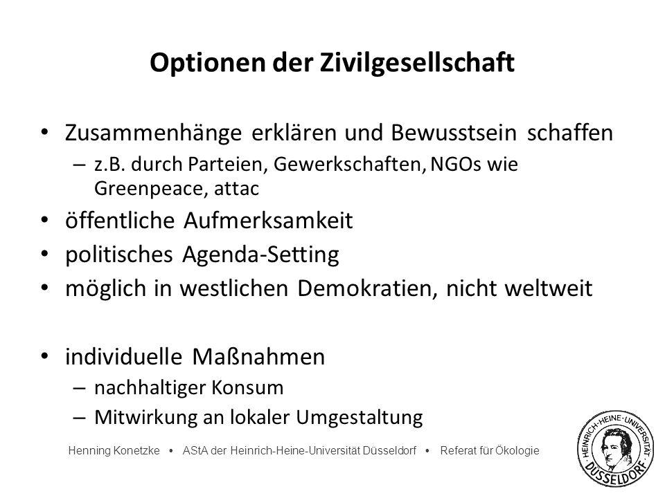 Optionen der Zivilgesellschaft