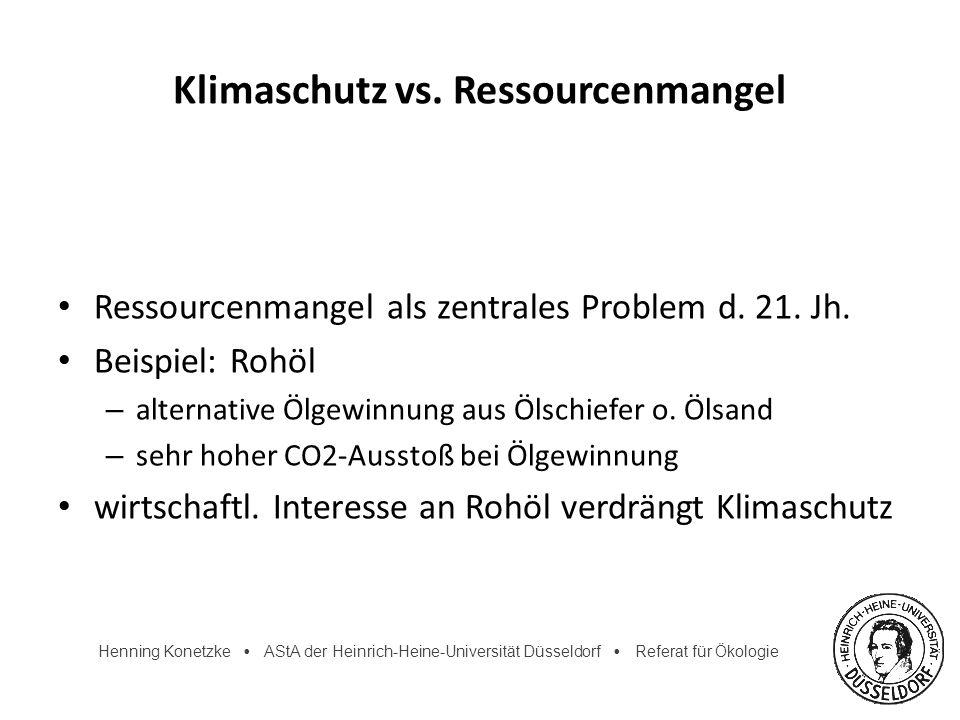 Klimaschutz vs. Ressourcenmangel