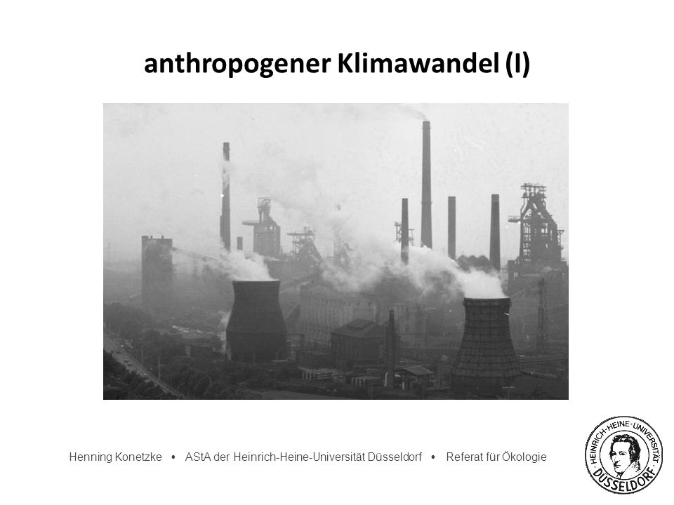 anthropogener Klimawandel (I)