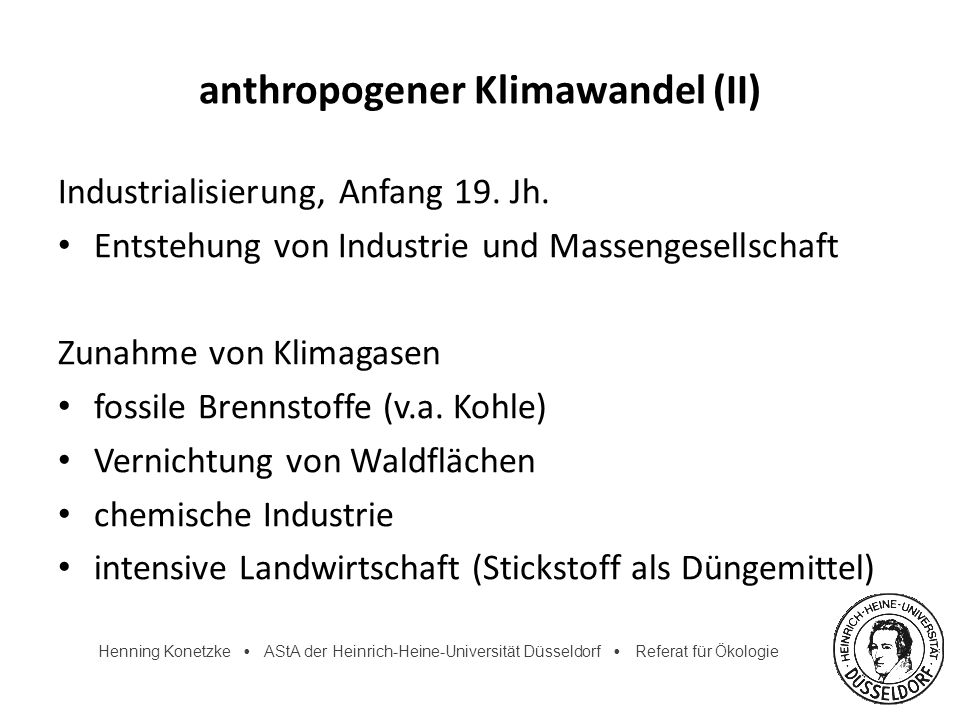 anthropogener Klimawandel (II)