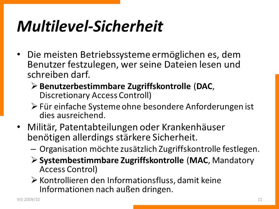 Multilevel-Sicherheit