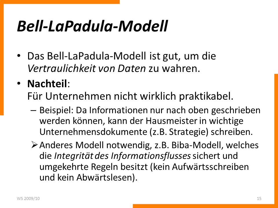 Bell-LaPadula-Modell