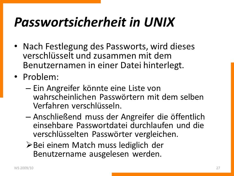 Passwortsicherheit in UNIX