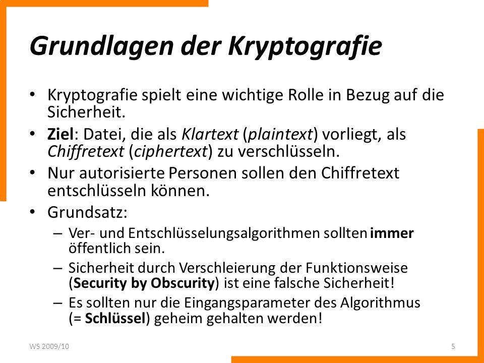Grundlagen der Kryptografie