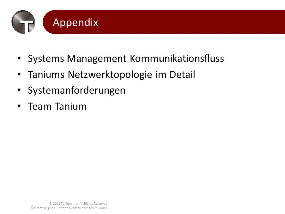 Appendix Systems Management Kommunikationsfluss