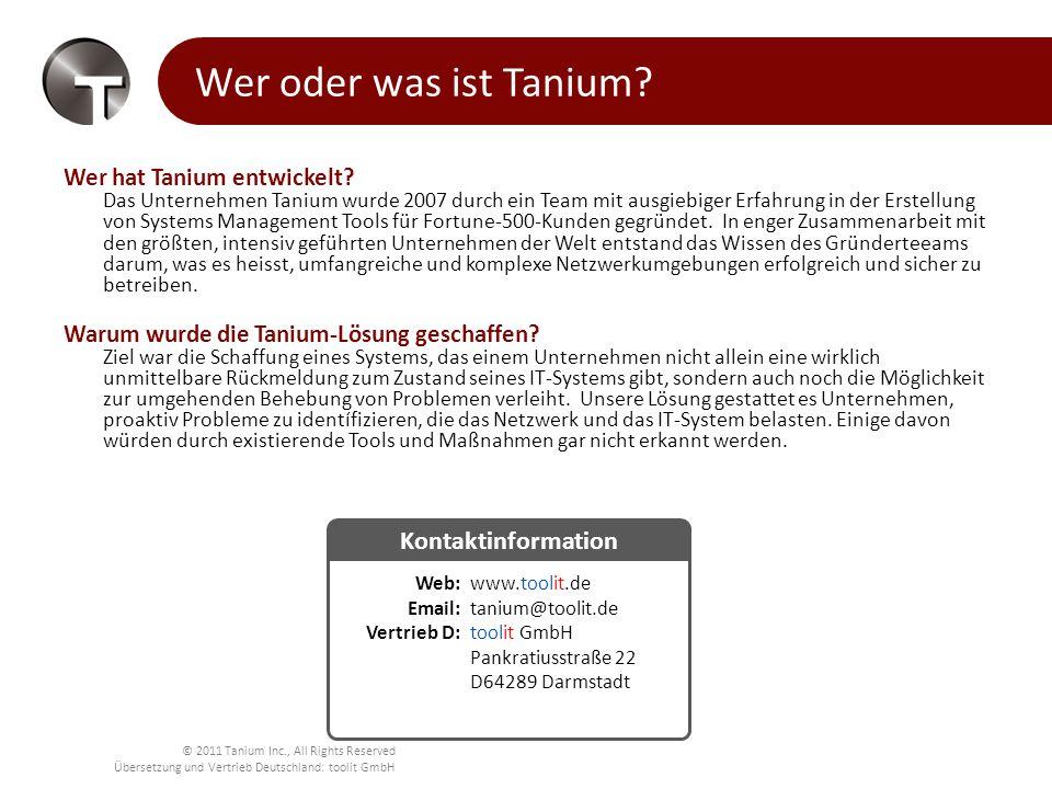 Wer oder was ist Tanium Kontaktinformation