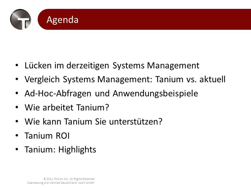 Agenda Lücken im derzeitigen Systems Management