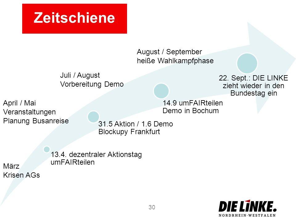 22. Sept.: DIE LINKE zieht wieder in den Bundestag ein