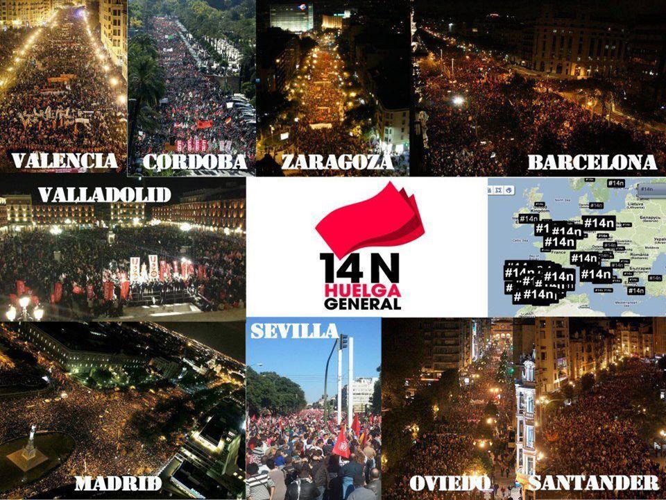 Die Fotos zeigen die beeindruckenden Demos in Spanien