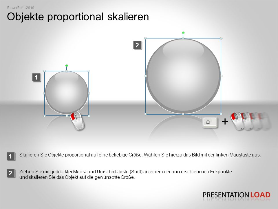 Objekte proportional skalieren
