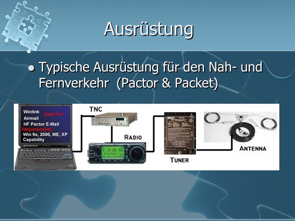 Ausrüstung Typische Ausrüstung für den Nah- und Fernverkehr (Pactor & Packet)