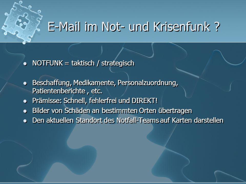 E-Mail im Not- und Krisenfunk