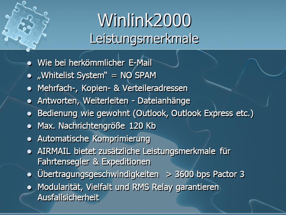 Winlink2000 Leistungsmerkmale