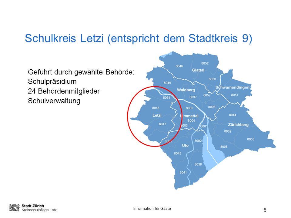 Schulkreis Letzi (entspricht dem Stadtkreis 9)