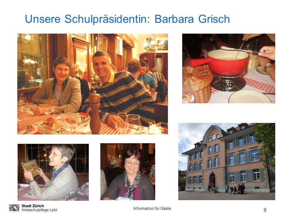 Unsere Schulpräsidentin: Barbara Grisch