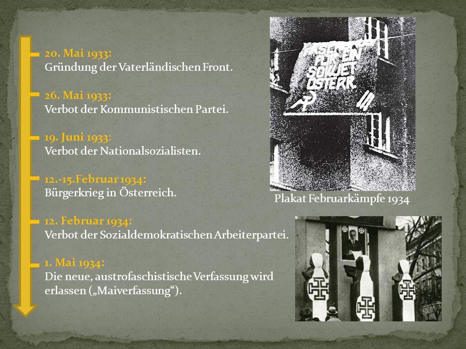 20. Mai 1933: Gründung der Vaterländischen Front.