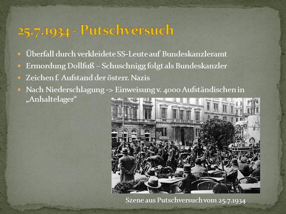 Szene aus Putschversuch vom 25.7.1934