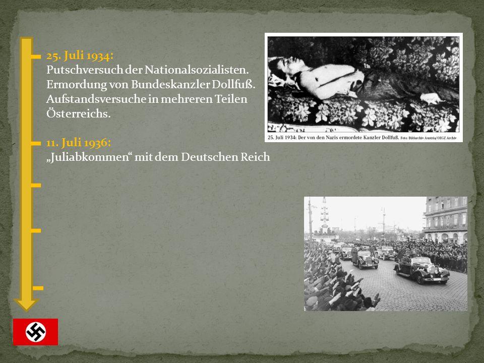 25. Juli 1934: Putschversuch der Nationalsozialisten