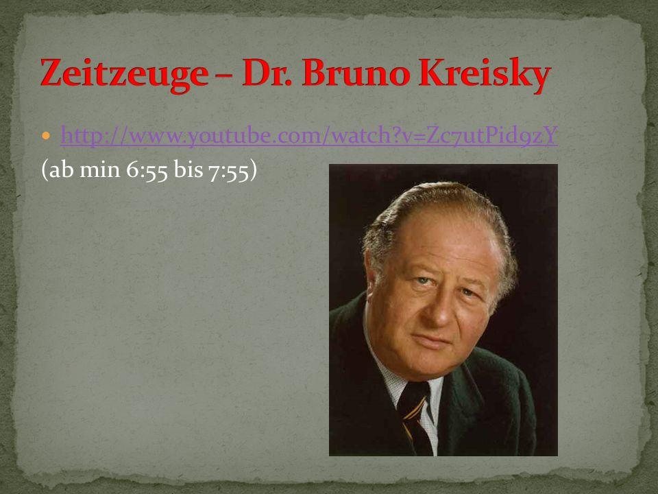 Zeitzeuge – Dr. Bruno Kreisky