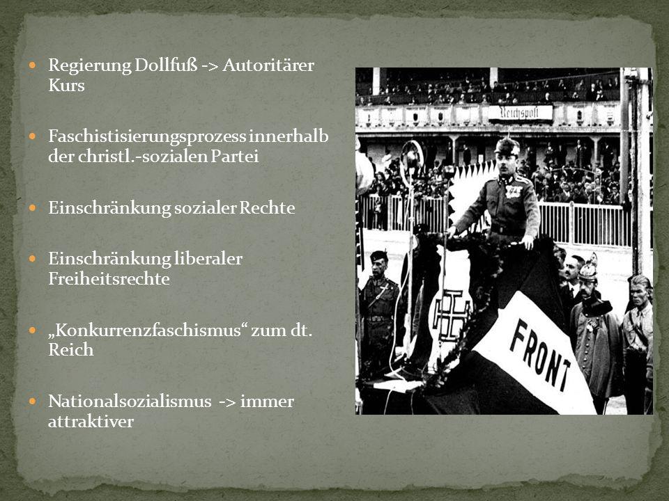 Regierung Dollfuß -> Autoritärer Kurs