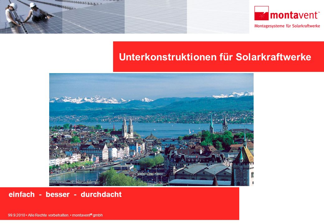 Unterkonstruktionen für Solarkraftwerke