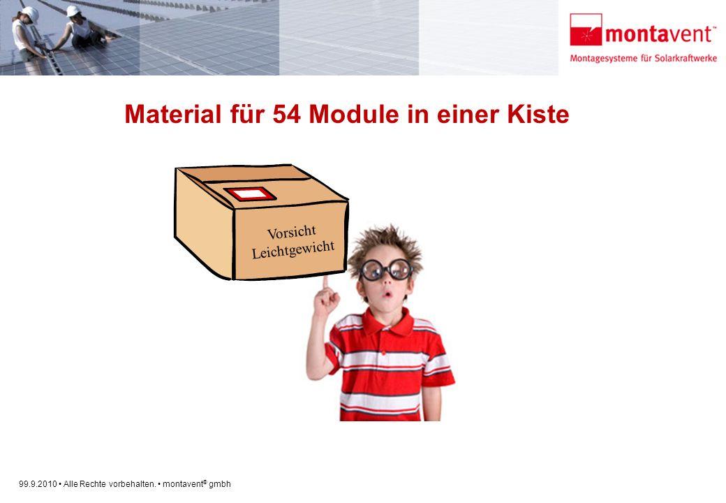Material für 54 Module in einer Kiste