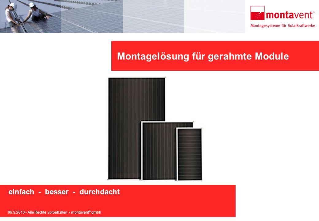 Montagelösung für gerahmte Module