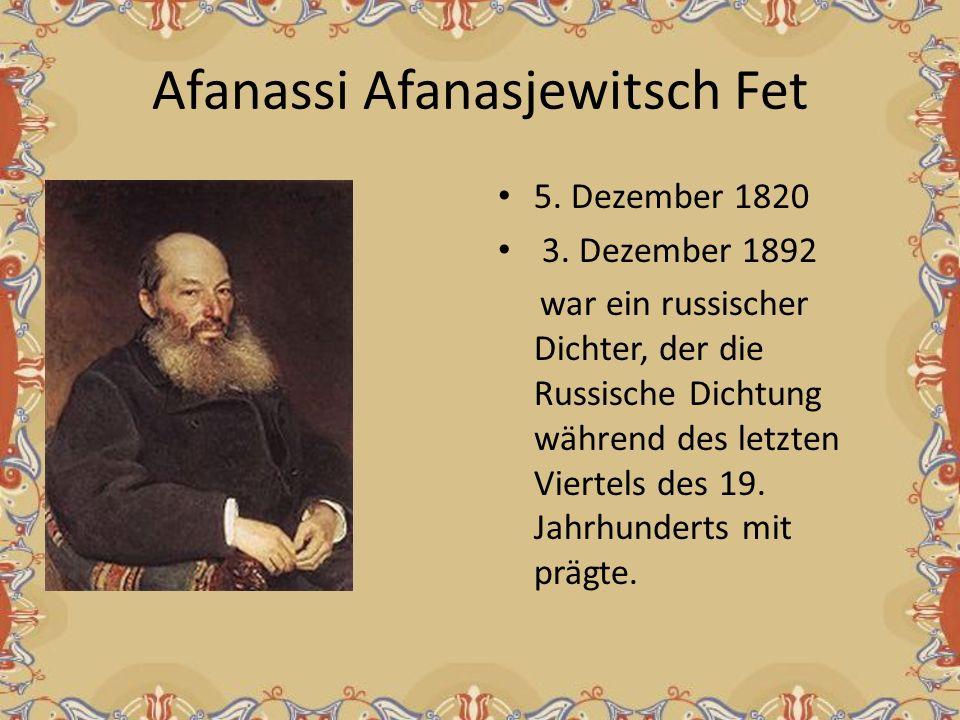 Afanassi Afanasjewitsch Fet