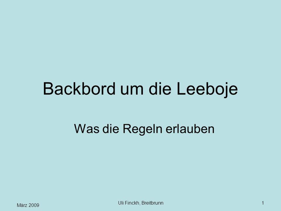 Backbord um die Leeboje