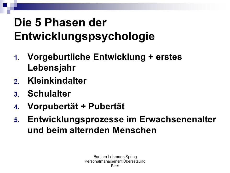 Die 5 Phasen der Entwicklungspsychologie