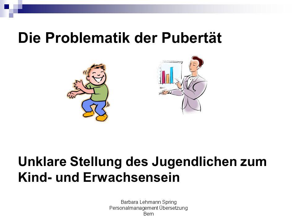 Die Problematik der Pubertät