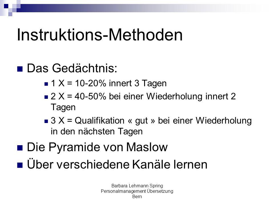 Instruktions-Methoden