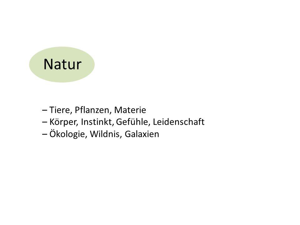 Natur – Tiere, Pflanzen, Materie