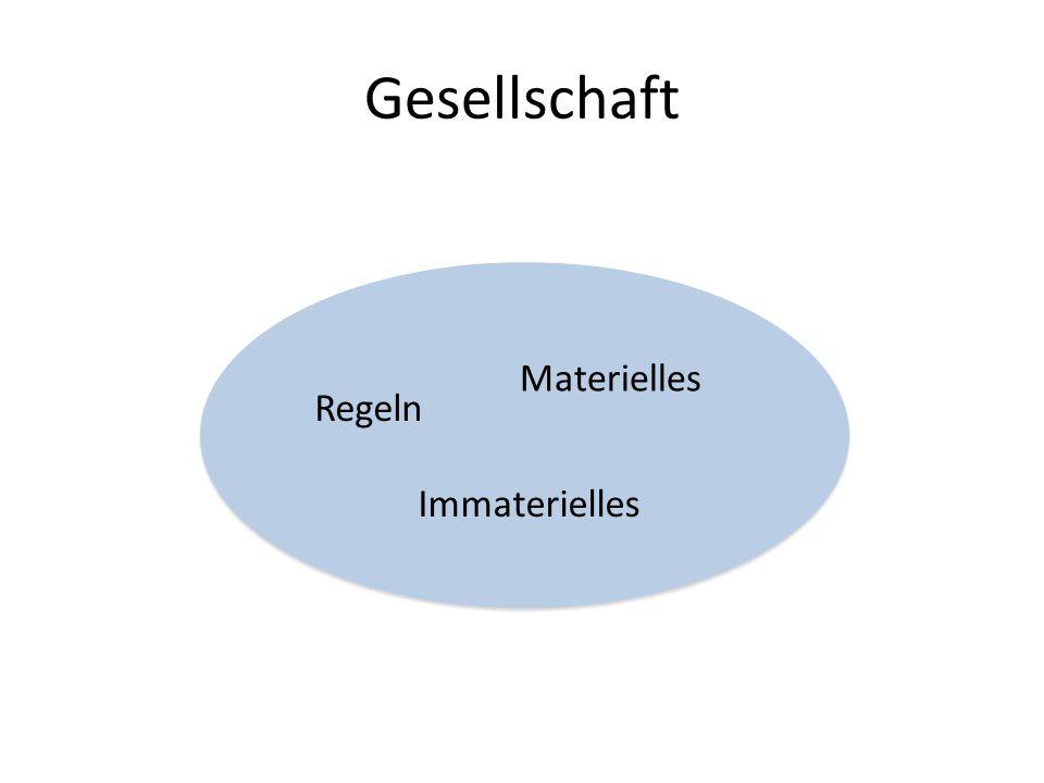 Gesellschaft Materielles Regeln Immaterielles