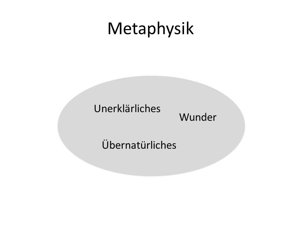 Metaphysik Unerklärliches Wunder Übernatürliches