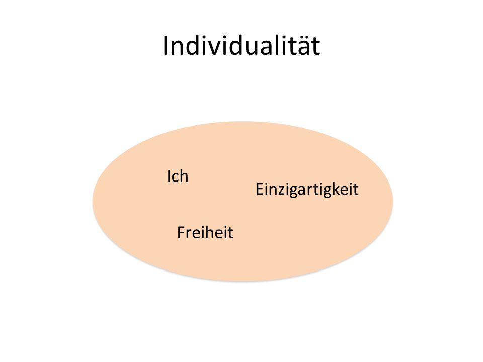 Individualität Ich Einzigartigkeit Freiheit