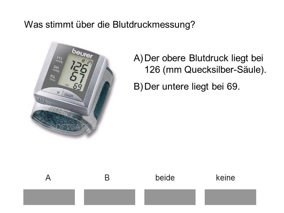 Was stimmt über die Blutdruckmessung