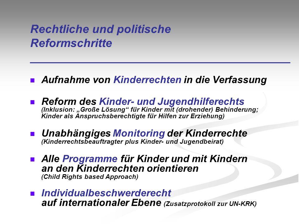 Rechtliche und politische Reformschritte ________________________________________