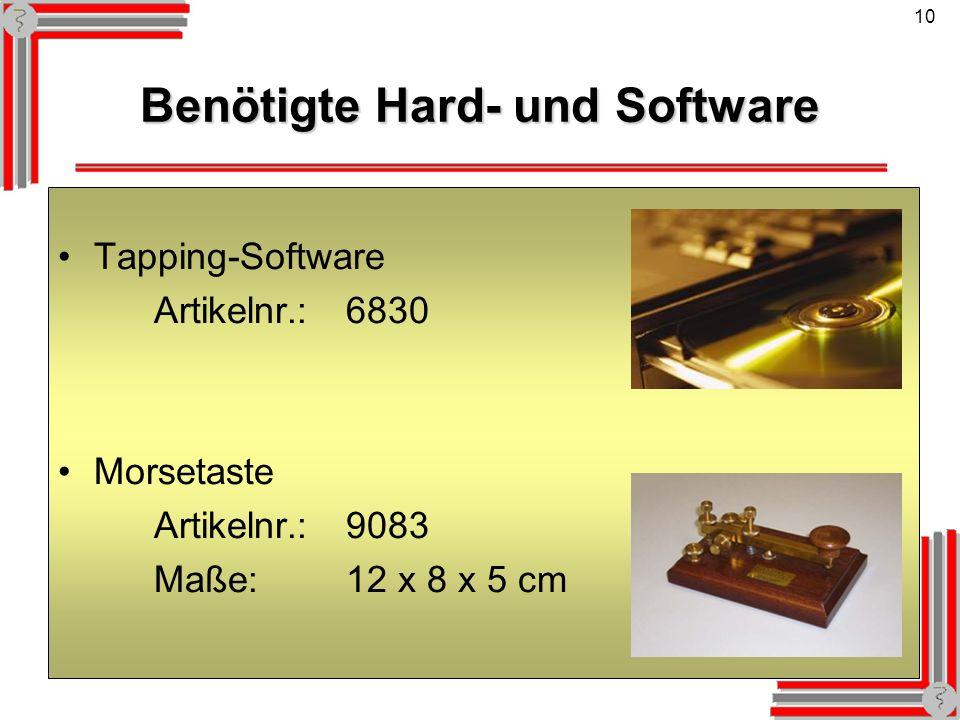 Benötigte Hard- und Software