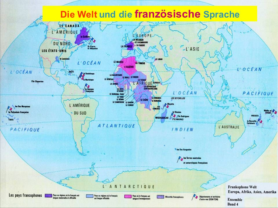 Die Welt und die französische Sprache