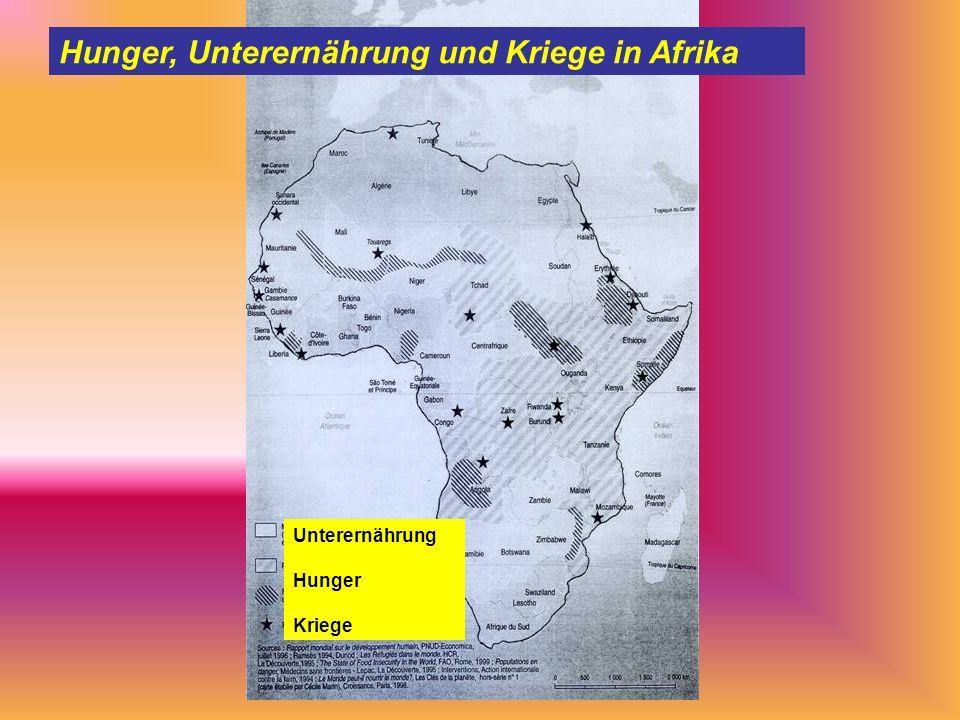 Hunger, Unterernährung und Kriege in Afrika