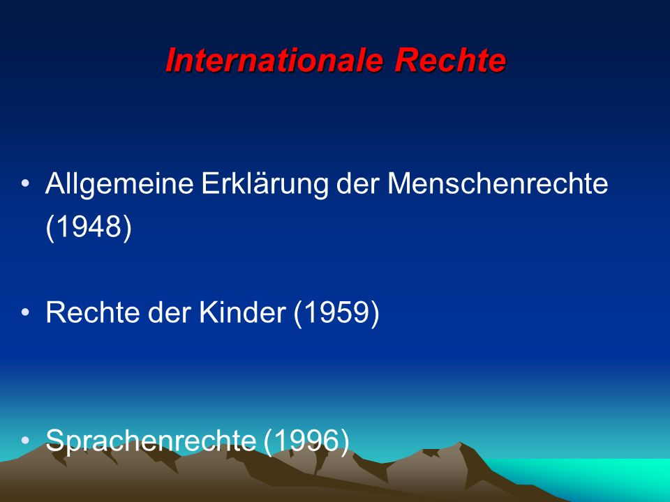Internationale Rechte