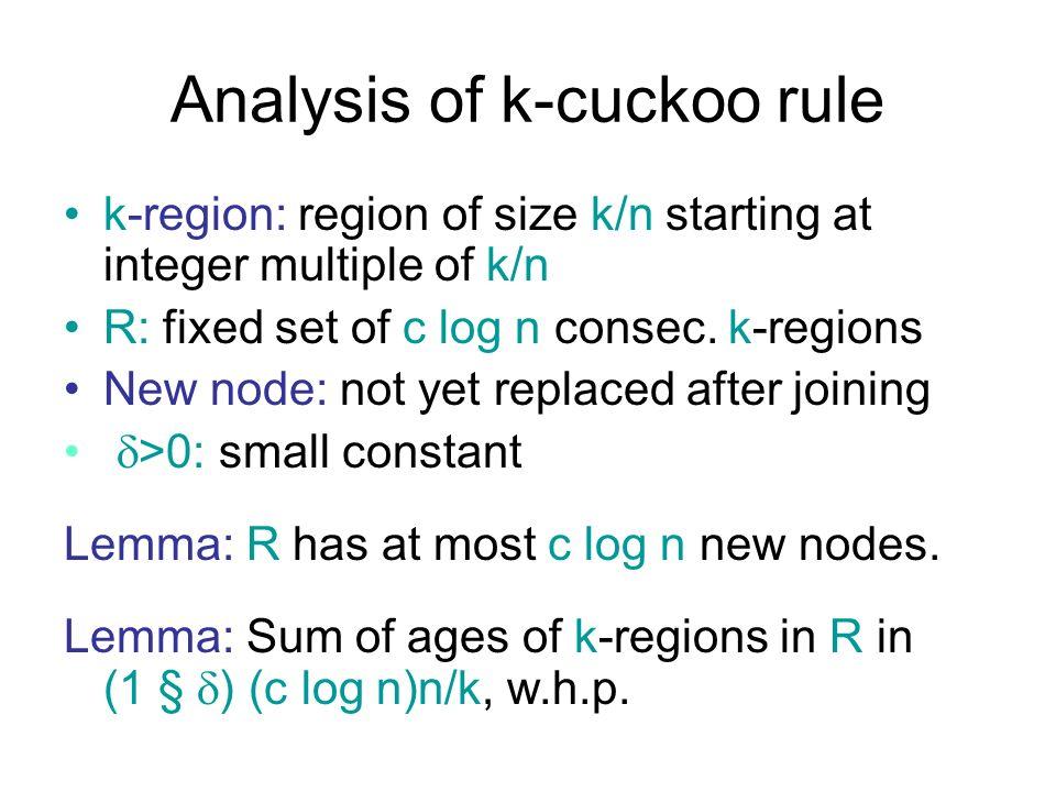 Analysis of k-cuckoo rule
