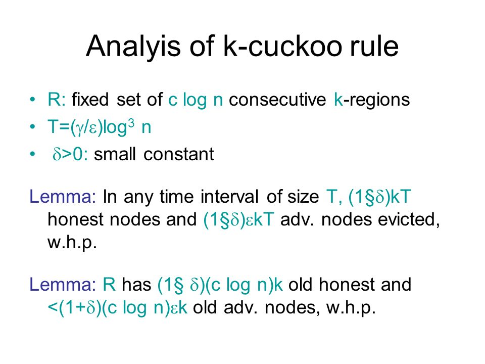 Analyis of k-cuckoo rule