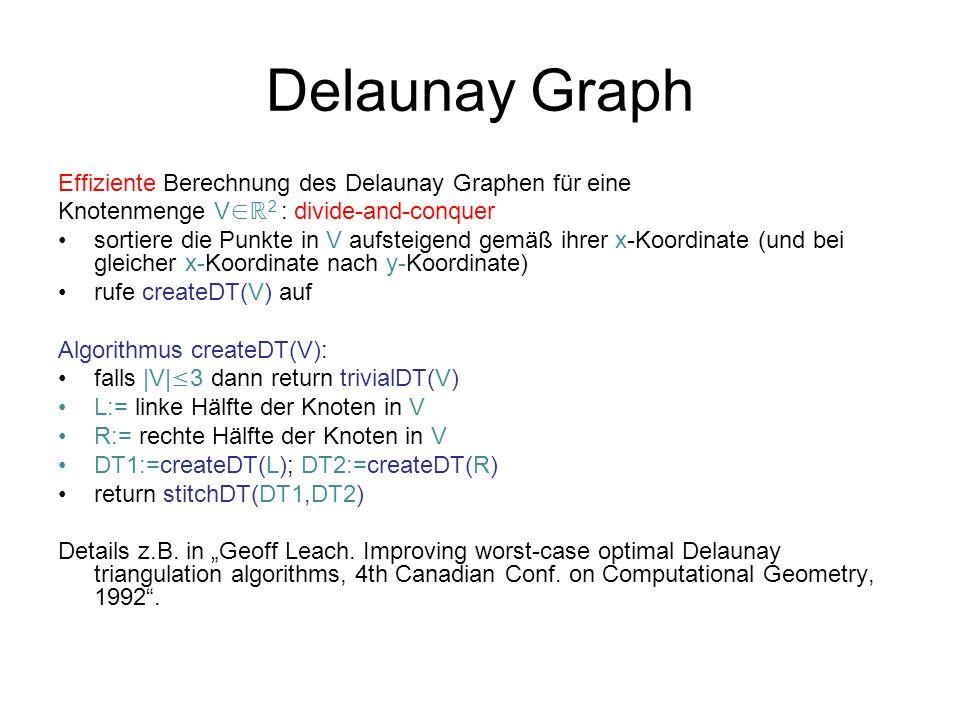 Delaunay Graph Effiziente Berechnung des Delaunay Graphen für eine