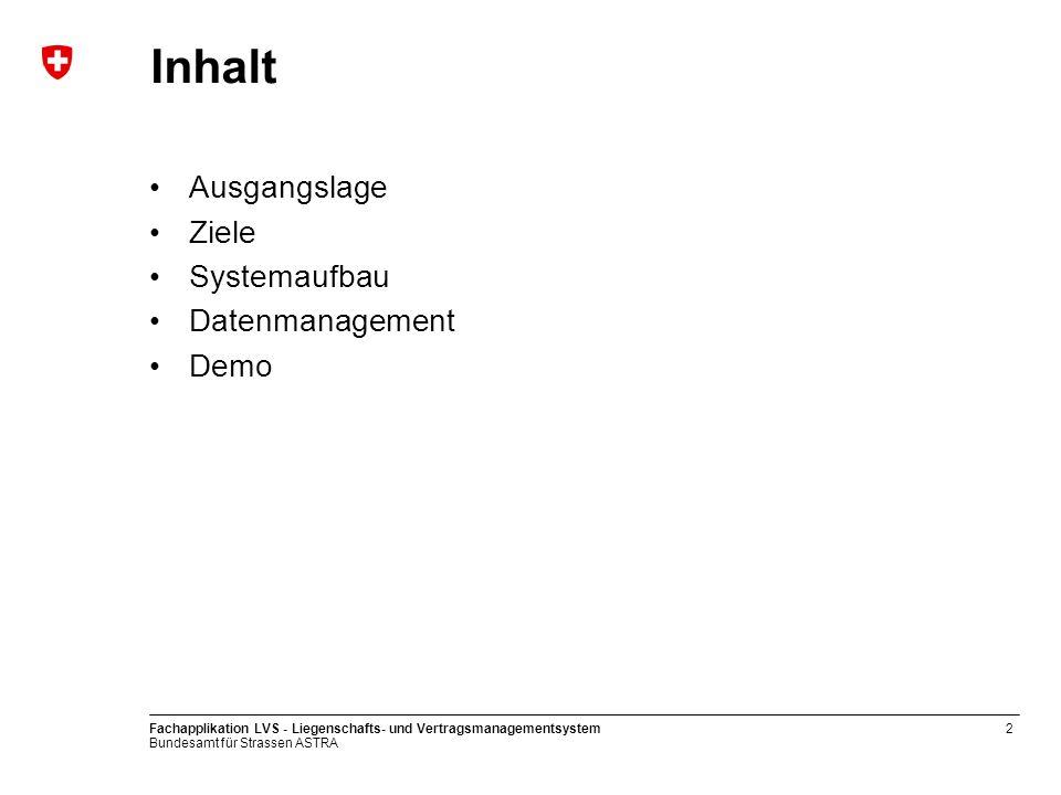 Inhalt Ausgangslage Ziele Systemaufbau Datenmanagement Demo