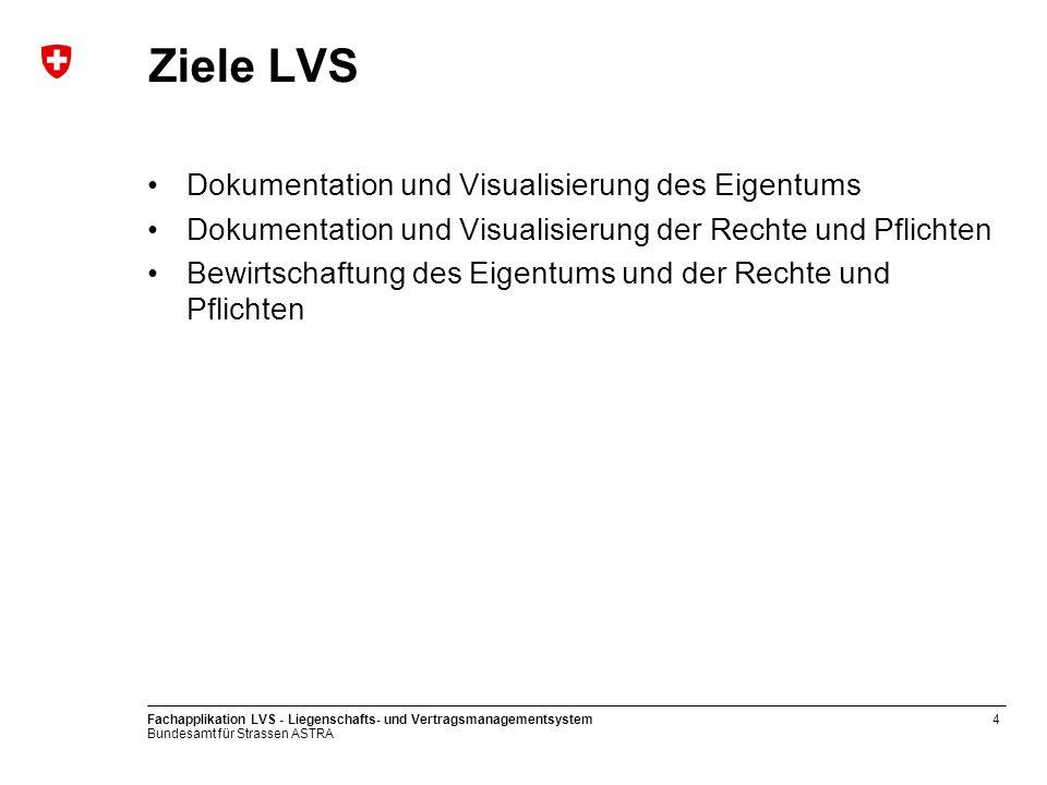 Ziele LVS Dokumentation und Visualisierung des Eigentums