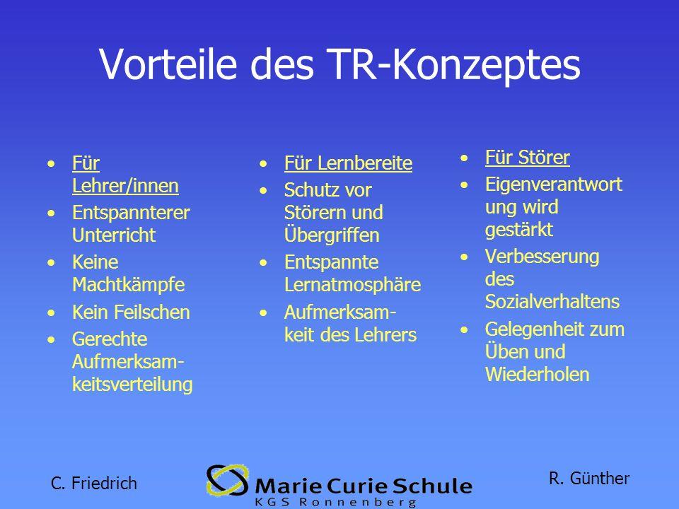 Vorteile des TR-Konzeptes